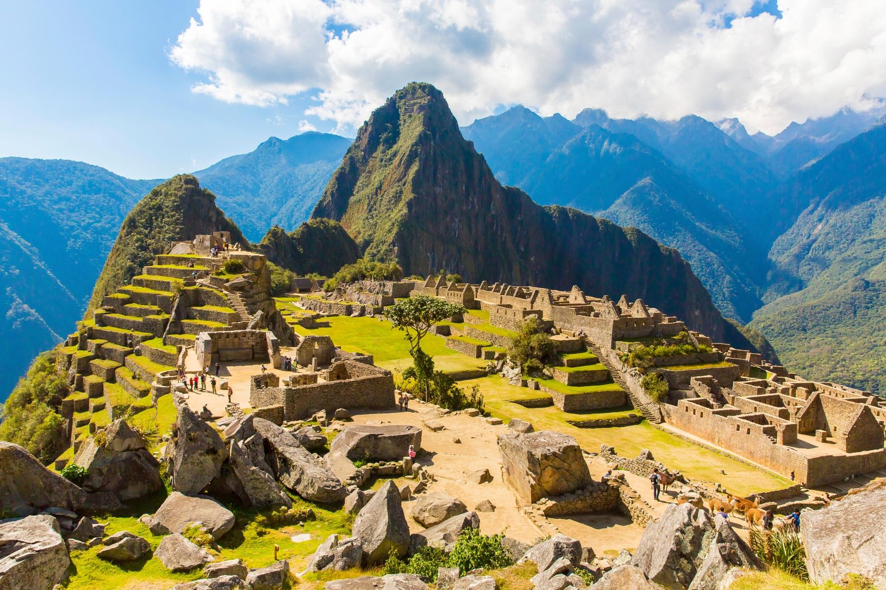 Países más grandes: Machu Picchu, en Perú