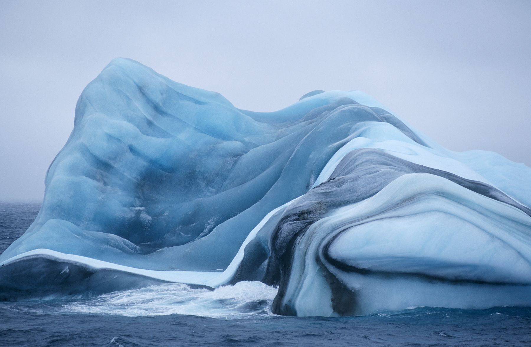 Striped icebergs, Antarctica - 10 amazing natural wonders of the world