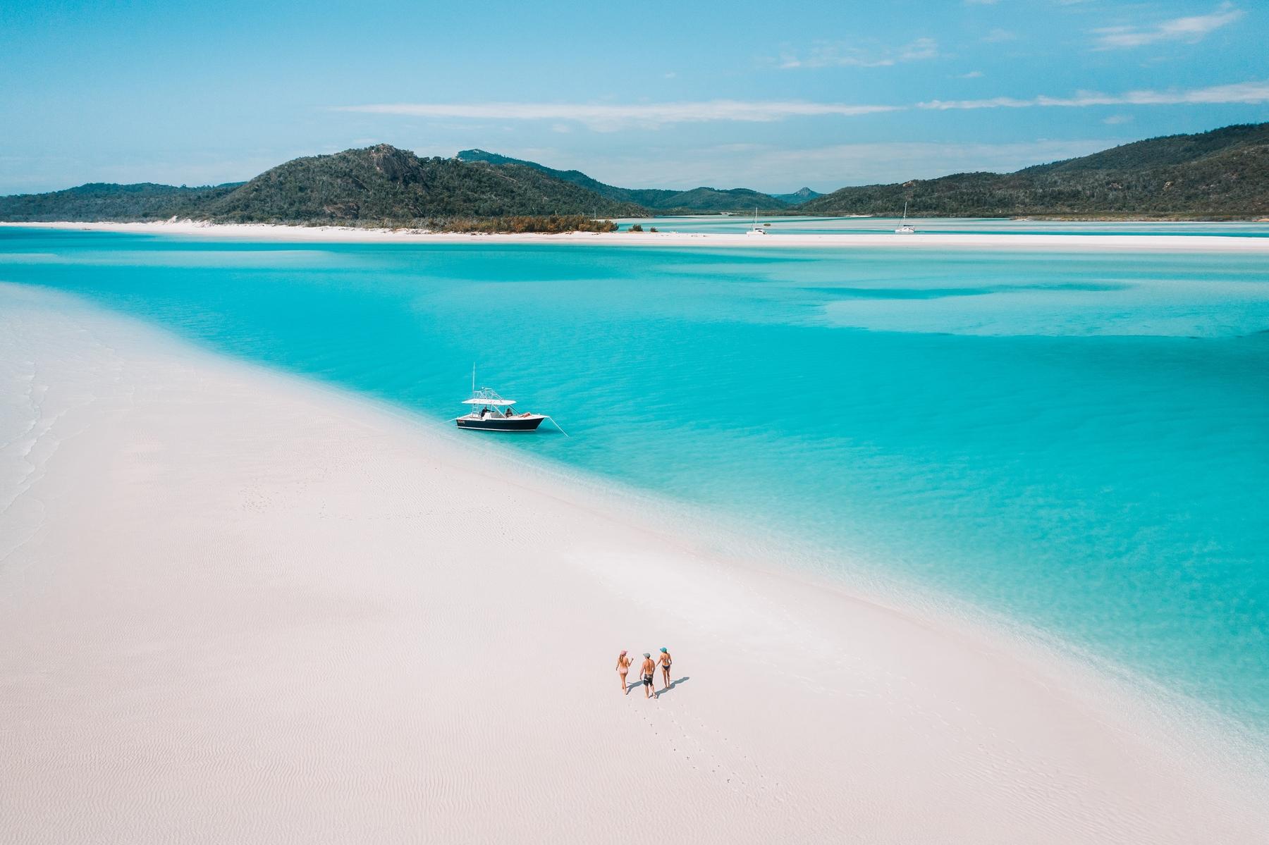 Walk on Whitehaven Beach on short breaks to Queensland