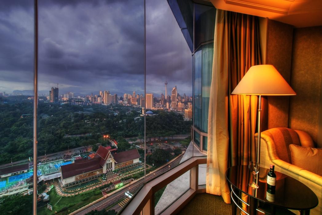 Θέα από ξενοδοχείο στην Κουάλα Λουμπούρ, Μαλαισία - city-hopping στις πόλεις της Ασίας