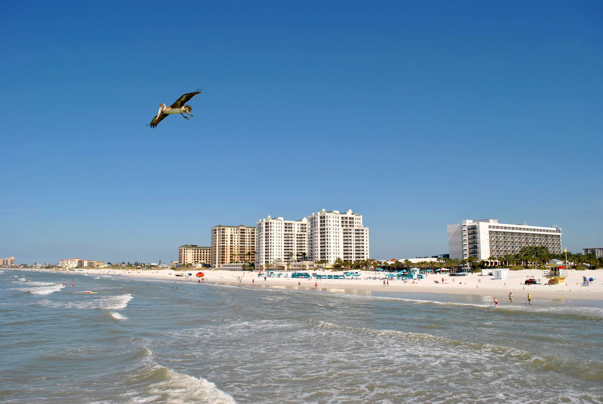 Clearwater Beach in Florida is great for family holidays on a budget
