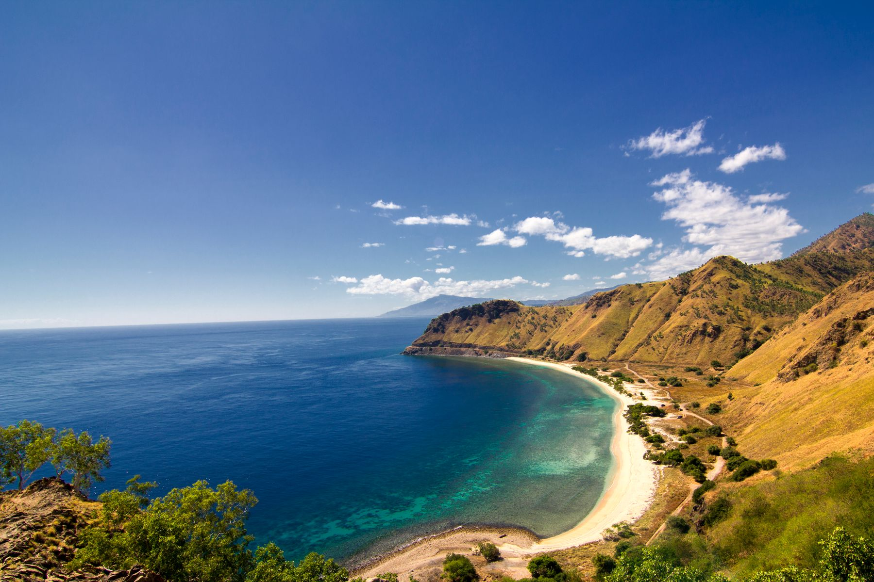 Mountains and coastline of Timor Leste or East Timor