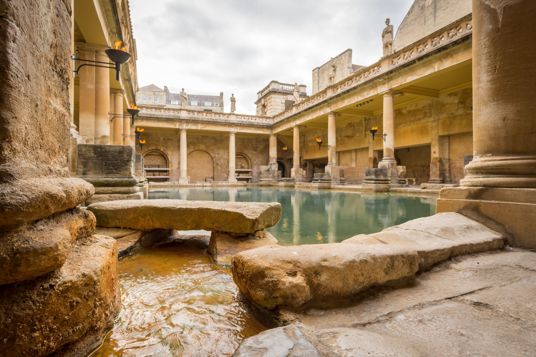 The Roman Baths in Bath, UK