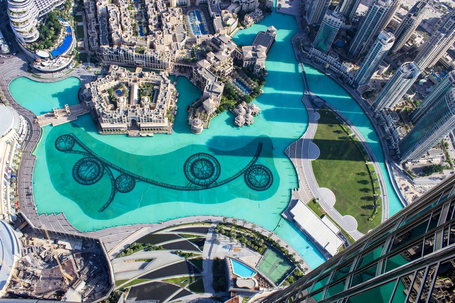 Бурдж-Халифа в Дубае, вид сверху