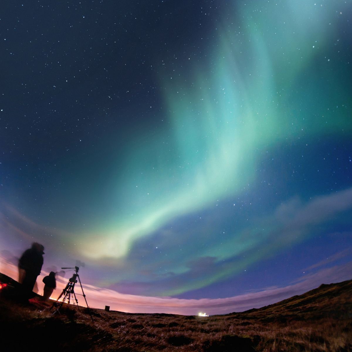 Photographers try to capture the Northern Lights