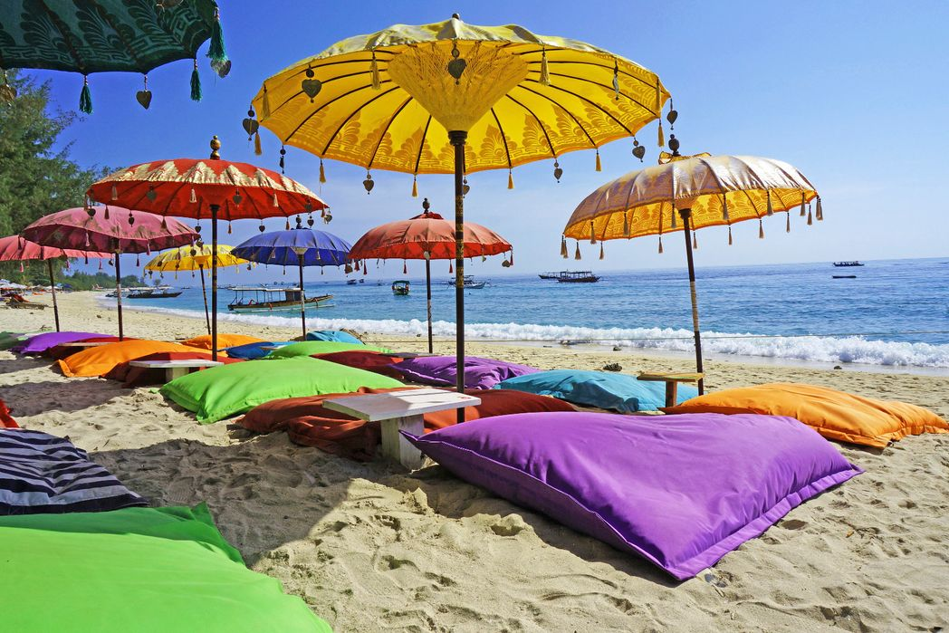 You'll need parasols on a beach holiday to Bali in November