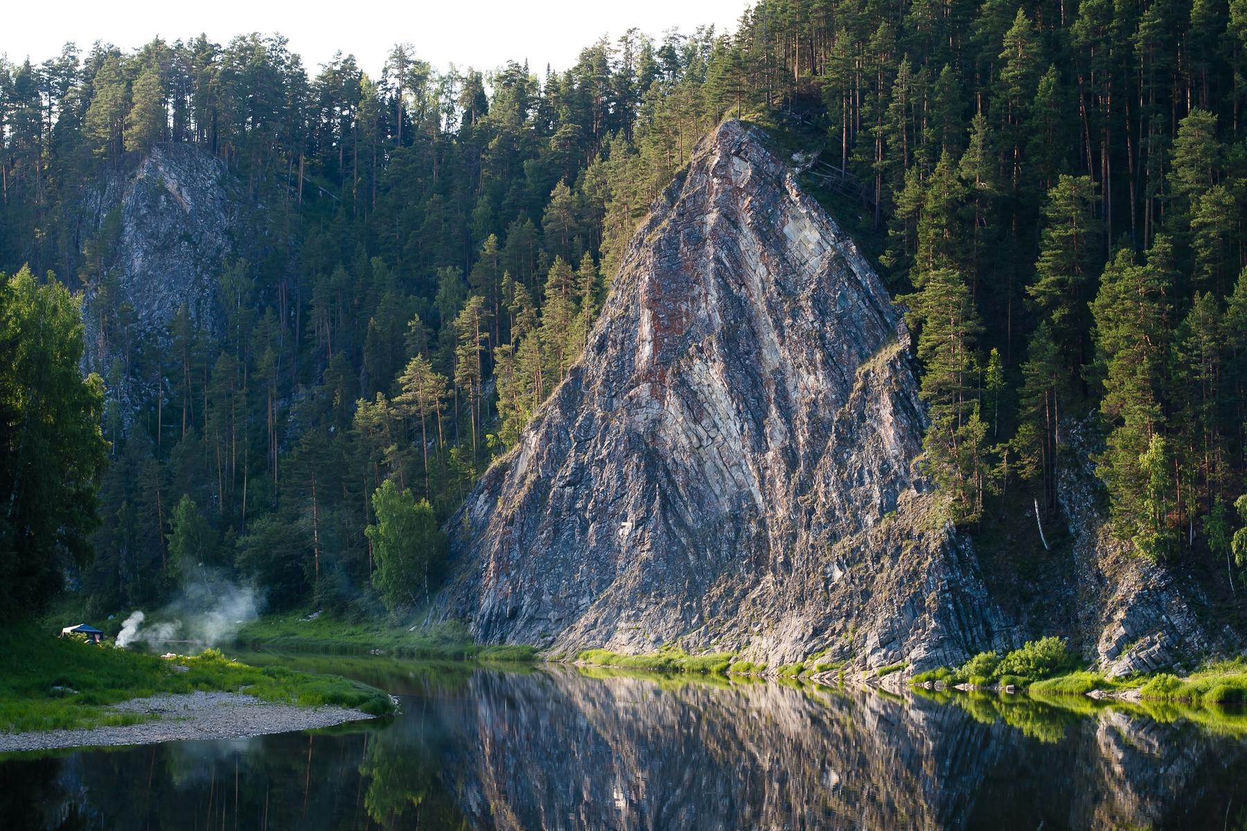 Отдых в России. Дужный Камень на реке Чусовая, Пермский край