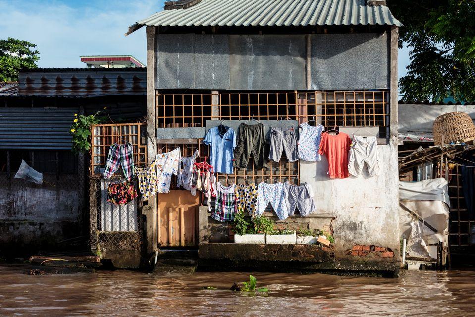 casa típica del delta del mekong