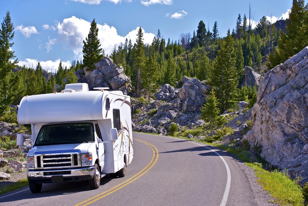 Camper van in the countryside
