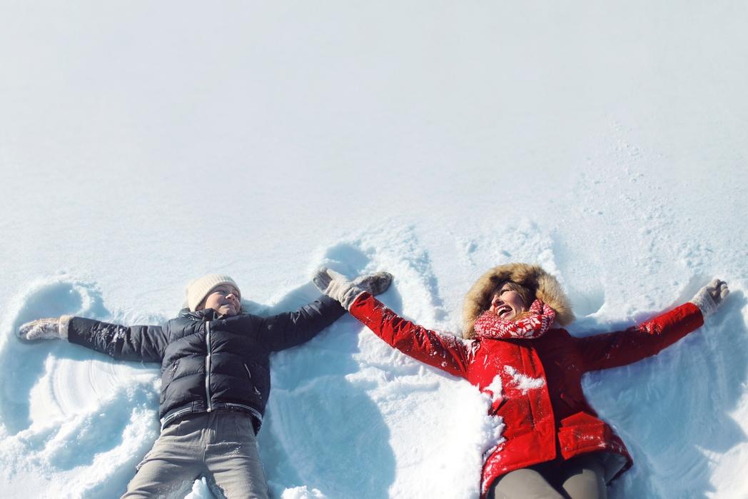 Παιχνίδια στο χιόνι στον Παρνασσό