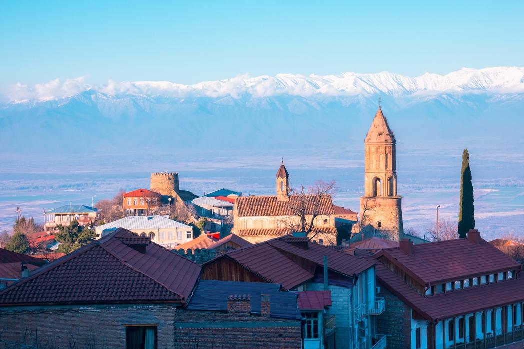 Θέα της πόλης Sighnaghi.