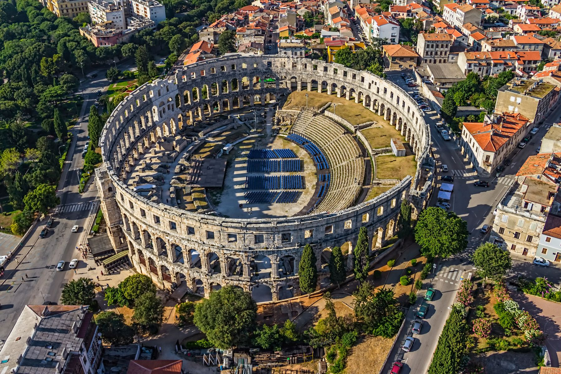 Pula is a great destination for cheap beach holidays