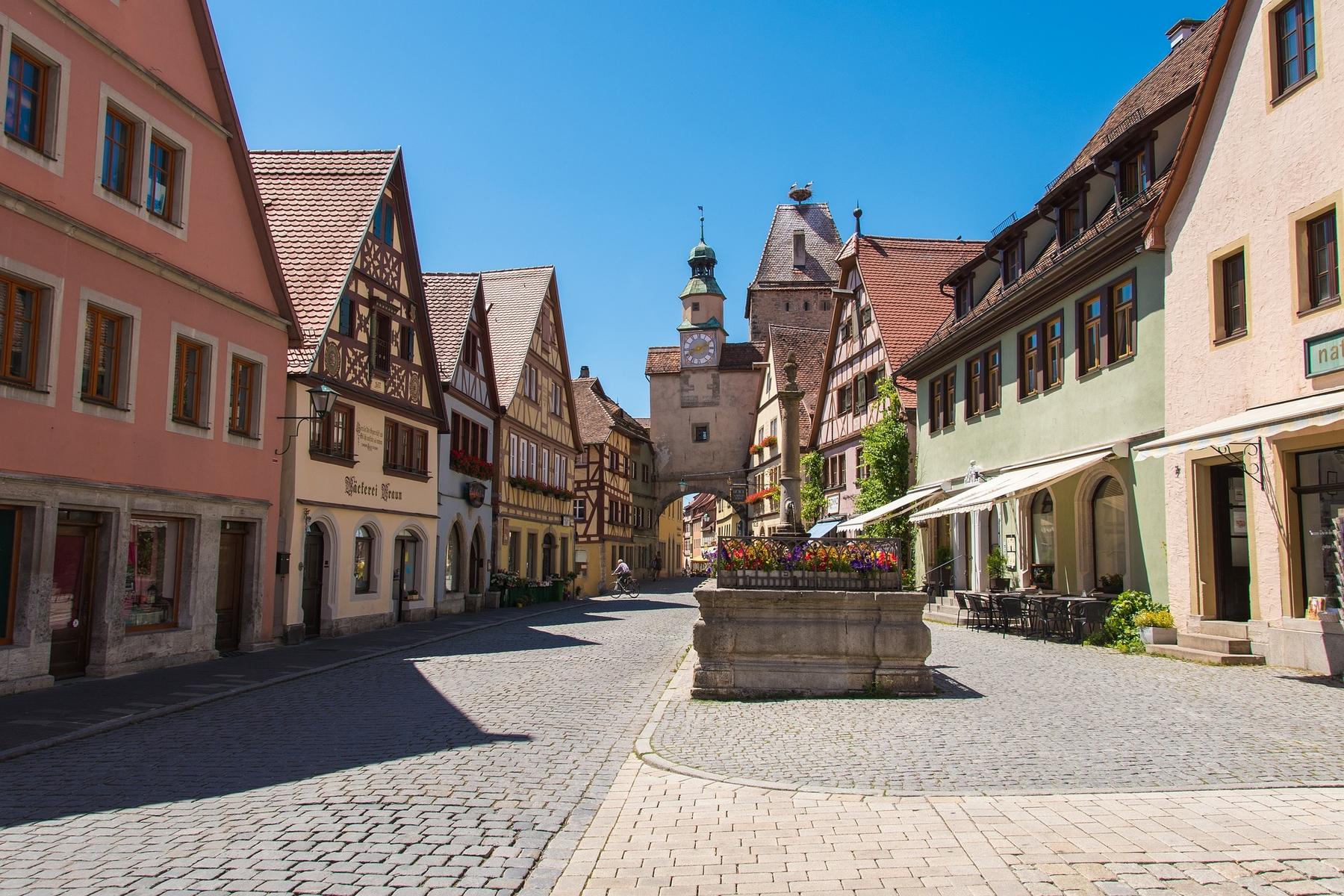 Mooie plaatsen Duitsland Rothenburg ob der Tauber in Beieren