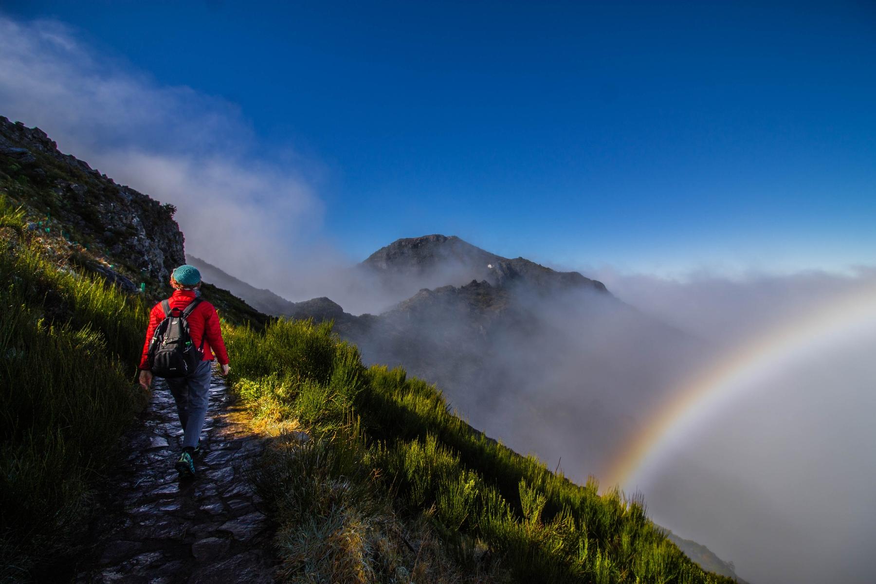 Rainbow above Pico Ruivo, Madeira
