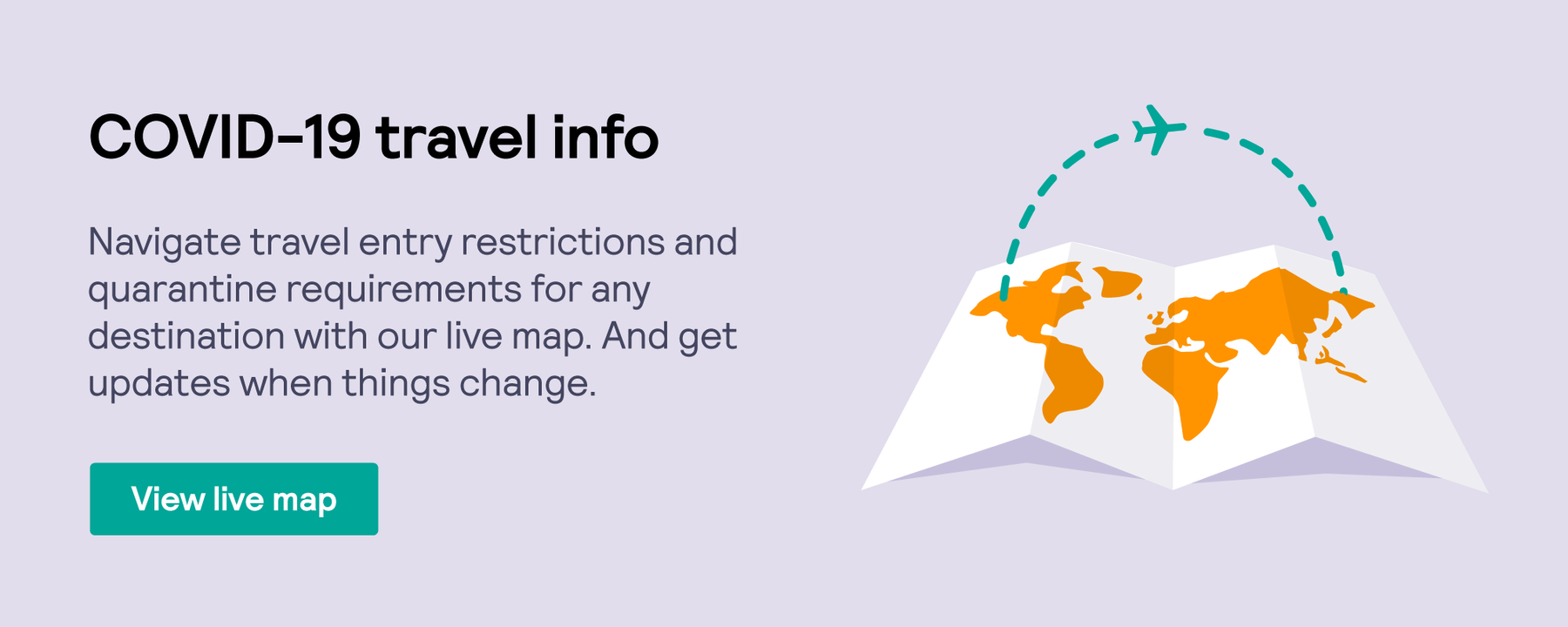 Skyscanner's COVID-19 travel info map