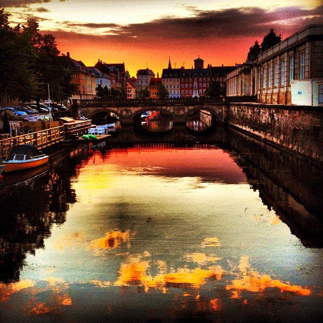 Ηλιοβασίλεμα στην Κοπεγχάγη, Δανία