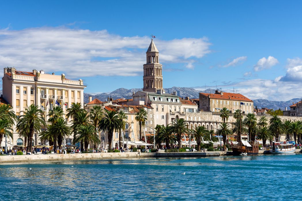 Palm-lined coast of Split - things to do in Dalmatia