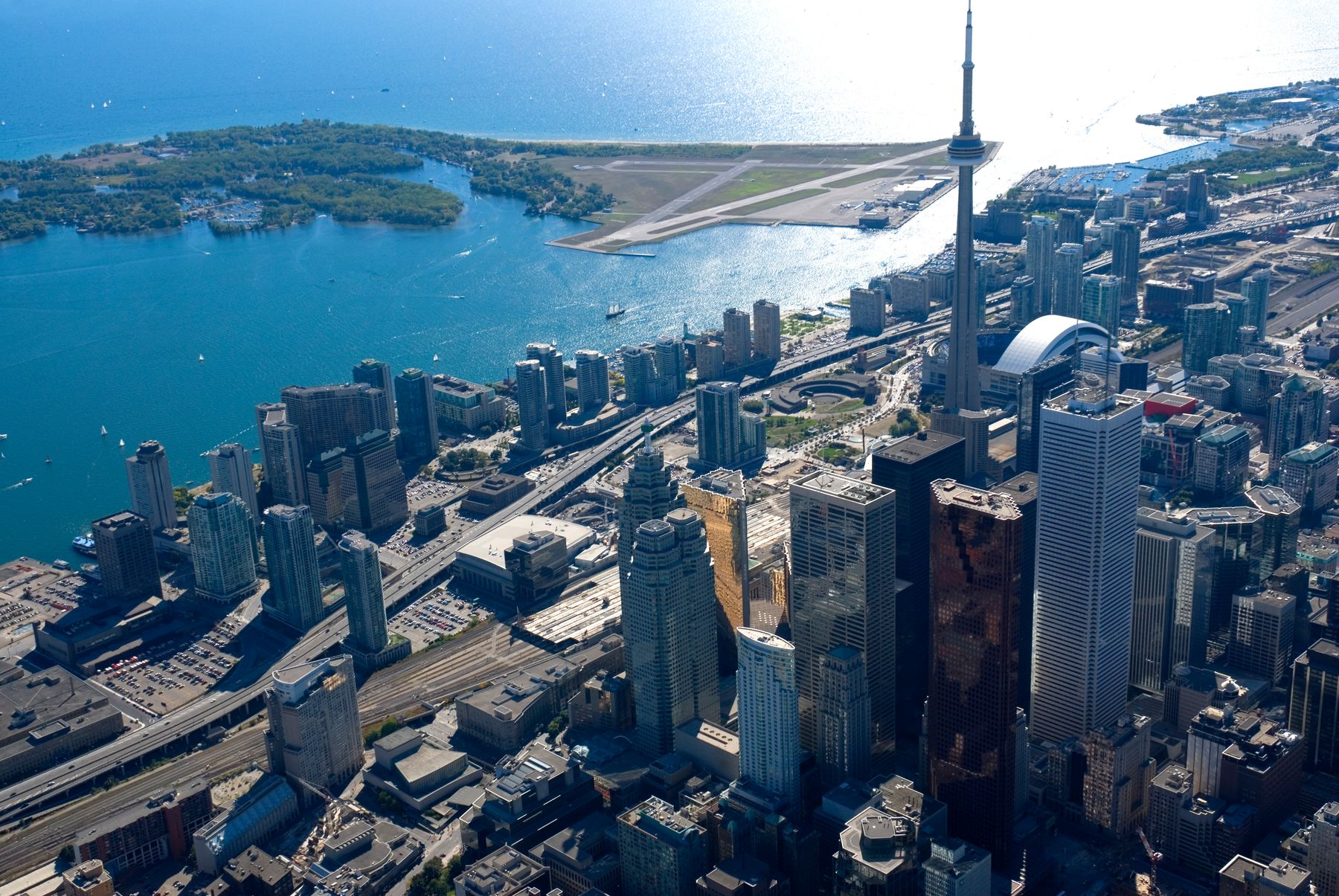 aerial view of Toronto during the day
