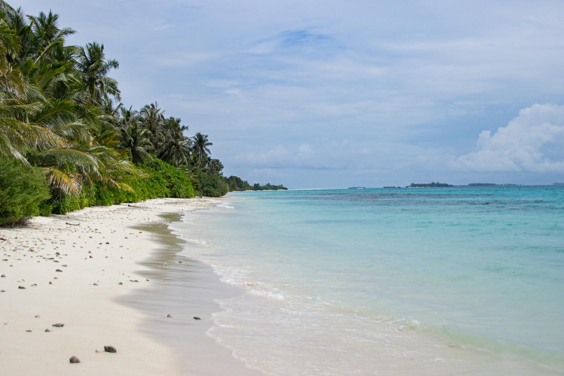 Praia da Ilha Dhigurah, nas Maldivas