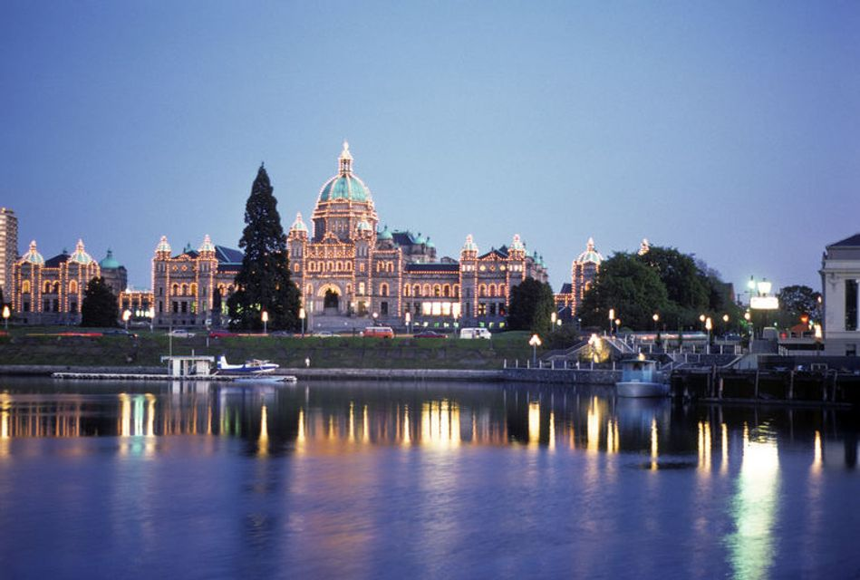view of the Victoria Parliament Buildings in British Columbia, a great place to spend Victoria Day weekend