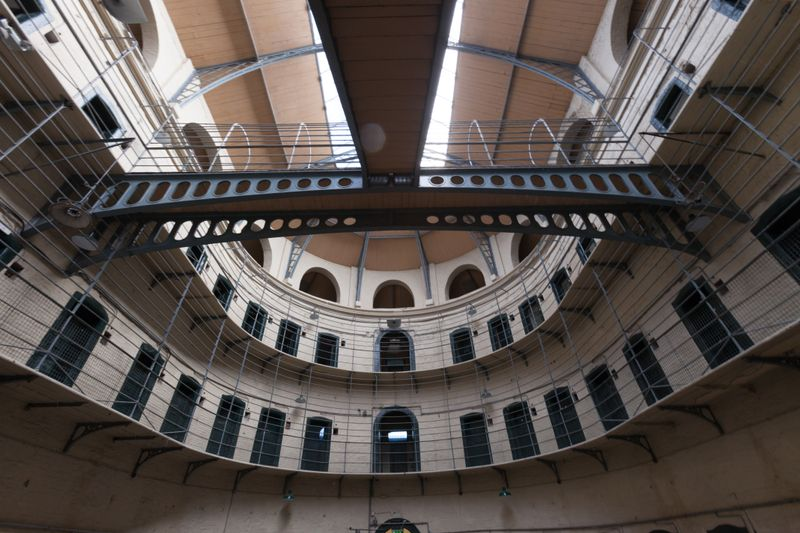 The stark interior of Kilmainham Gaol, Dublin, Ireland