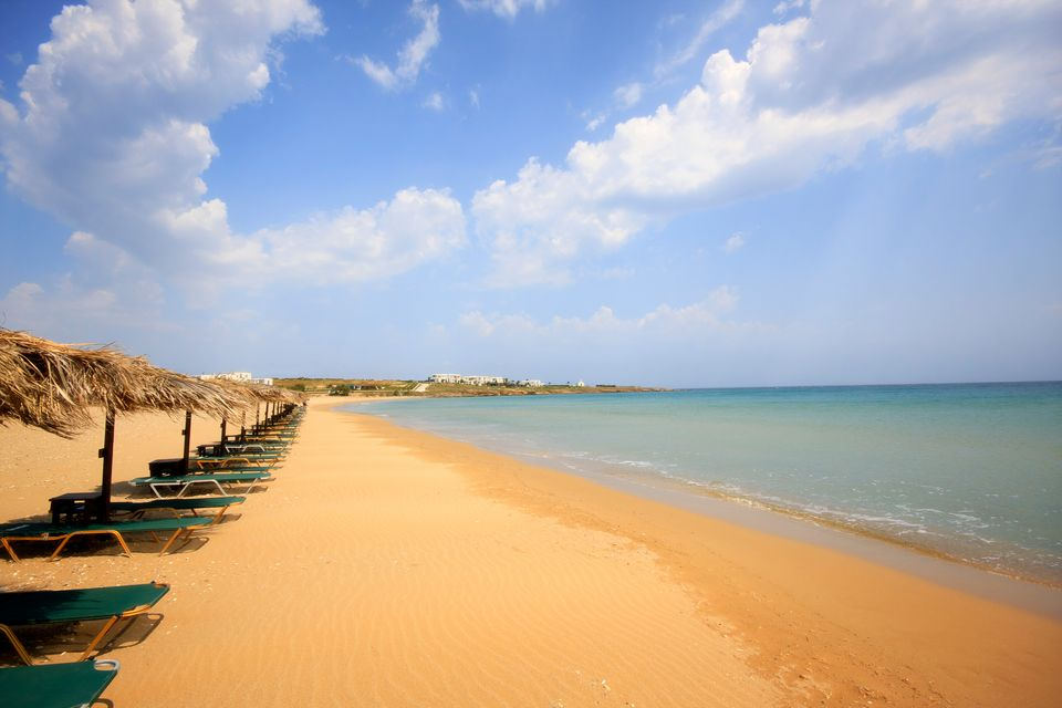 Sandy beach on the Greek island of Paros