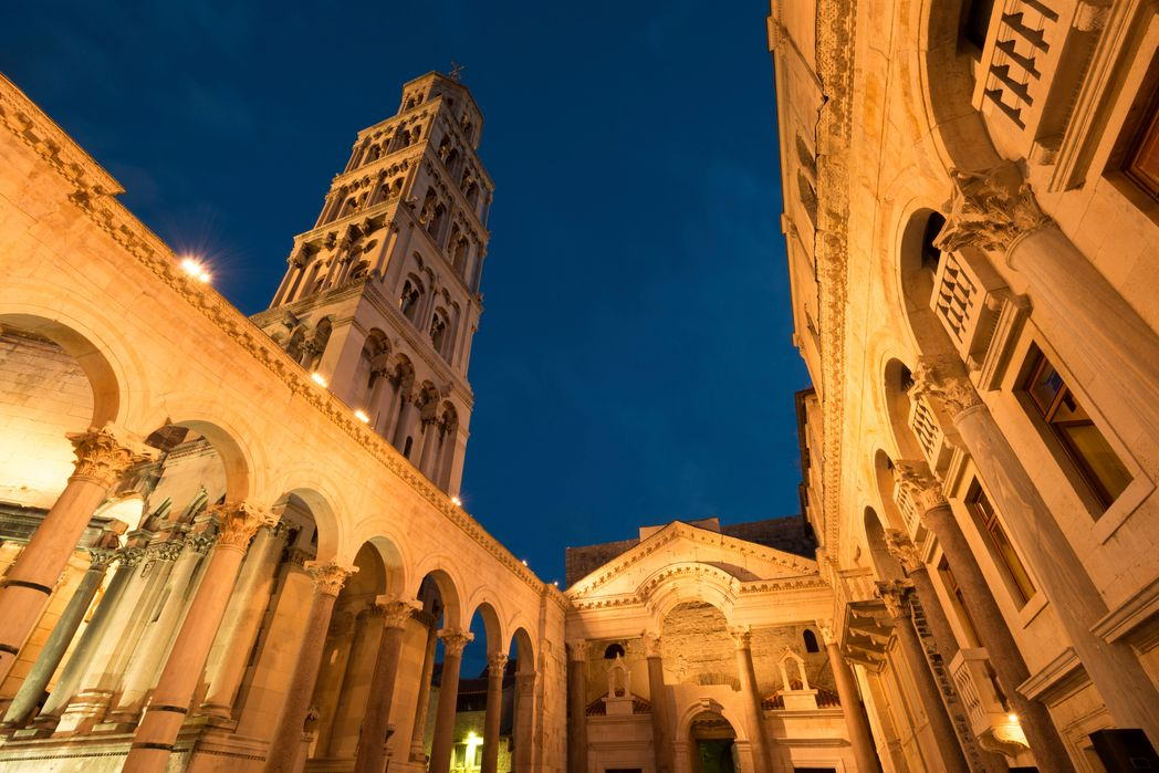Diocletian's Palace at night - best things to do in Split