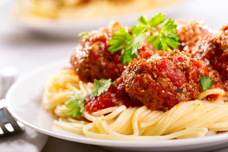 meat balls pasta