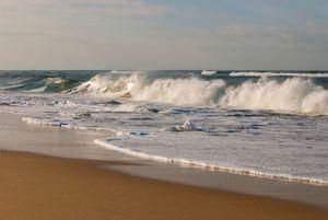 The stunning beach in Hossegor, France