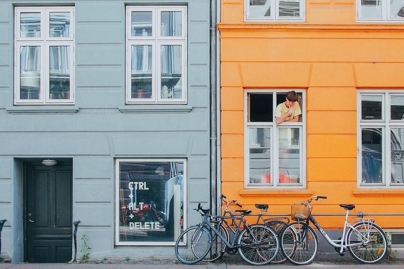 Яркие домики в Копенгагене
