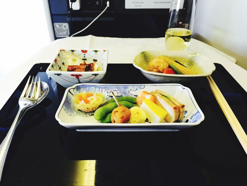 Fancy plane food