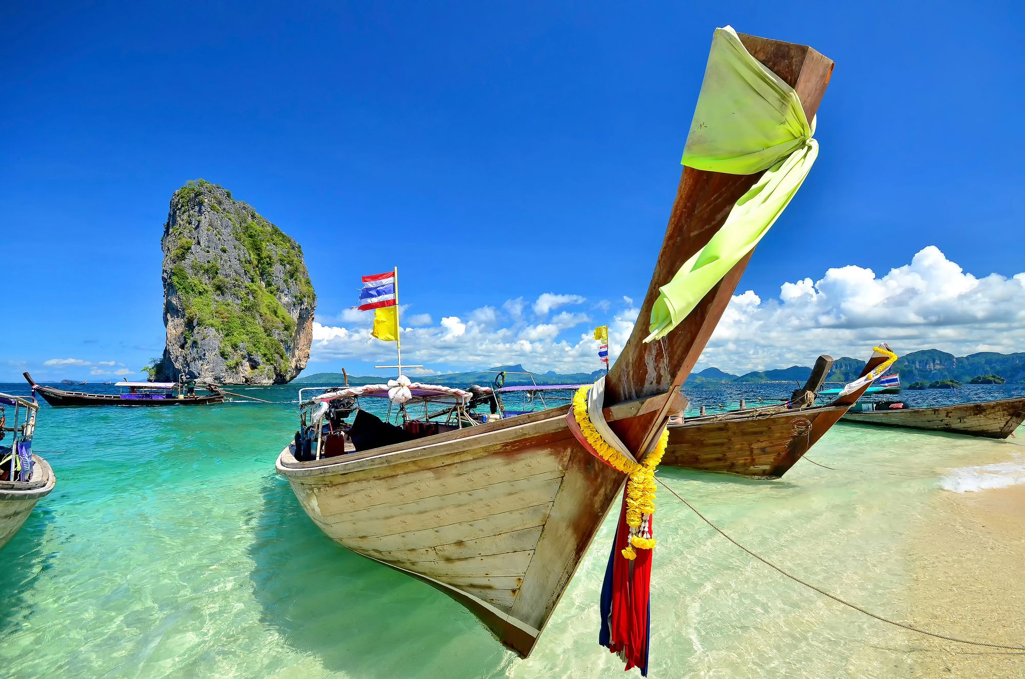 The famous boats of Thailand