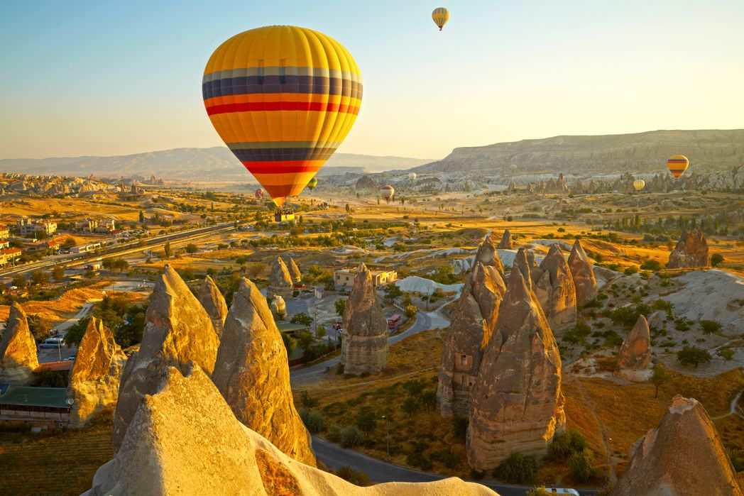 Kapadokya, Nevşehir üzerinde balon