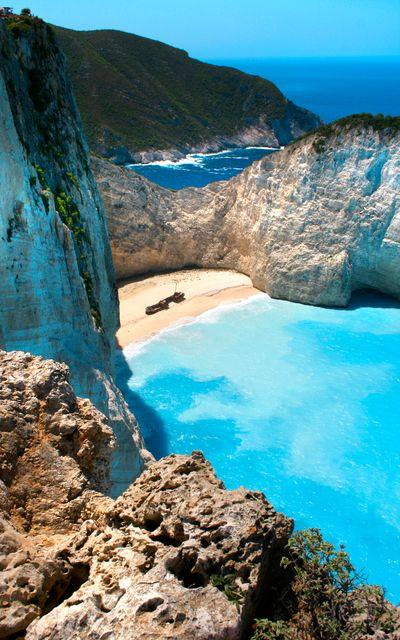Navagio or Shipwreck Beach in Zante (Zakynthos), Greece