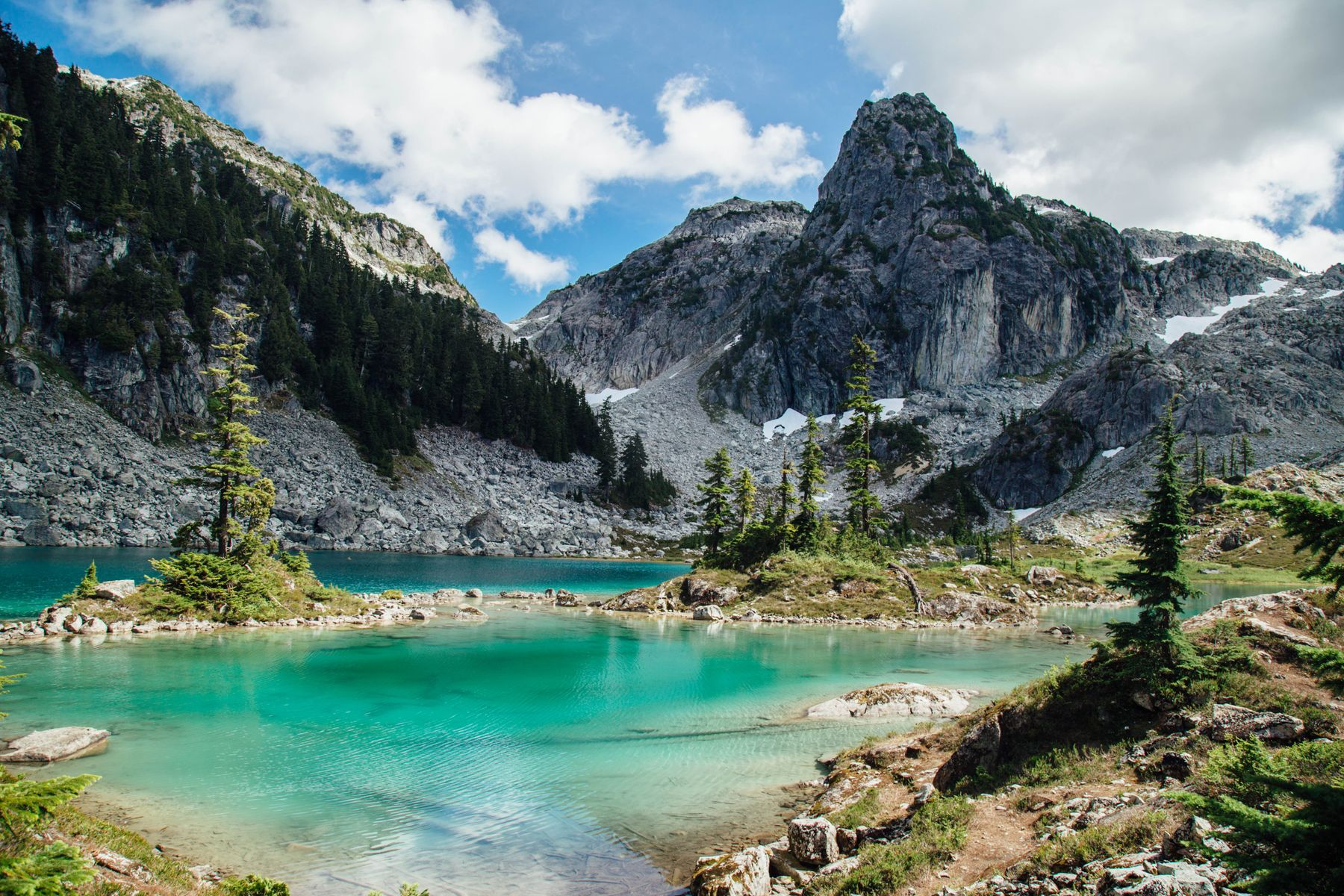 Turquoise glacier lake. Squamish is home to some of the best lakes in Canada.