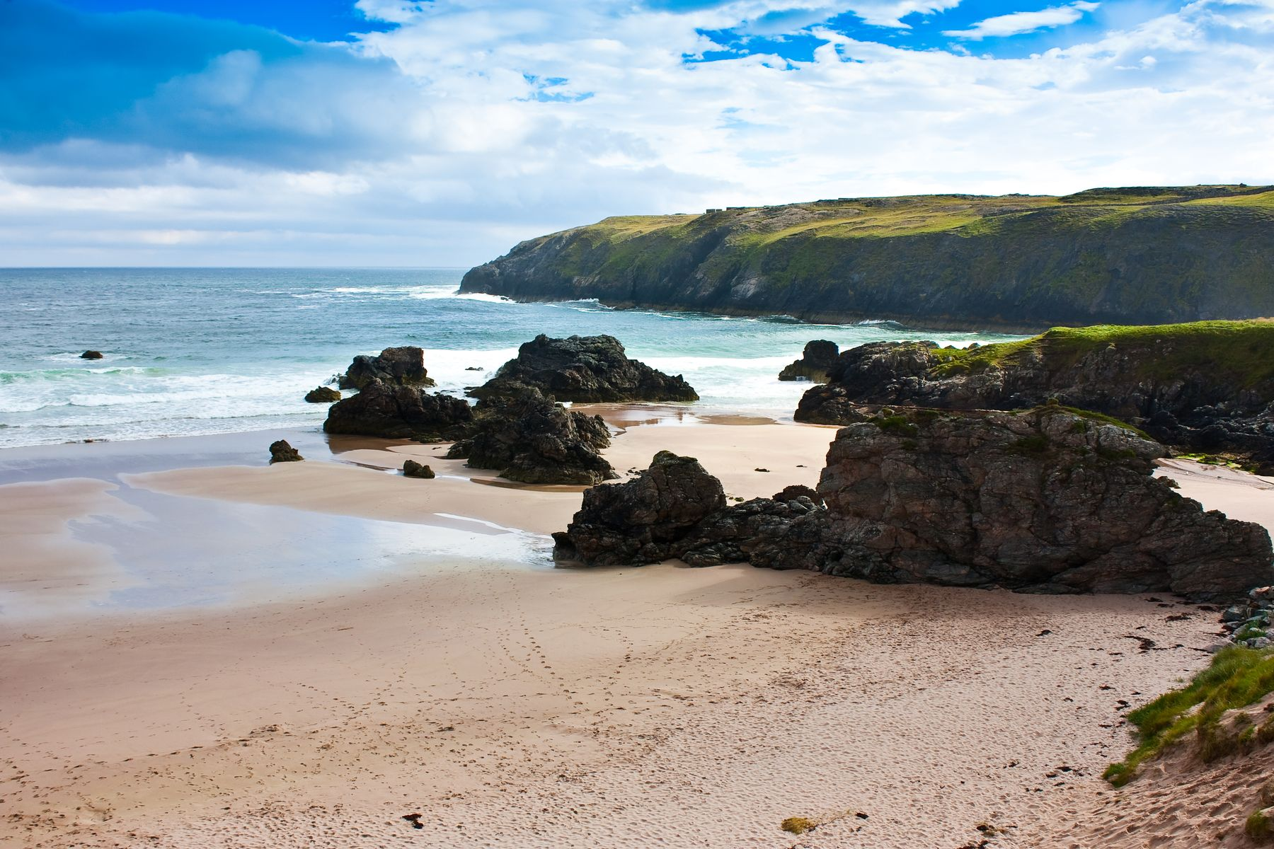 Durness Beach, a popular stopping point on the North Coast 500