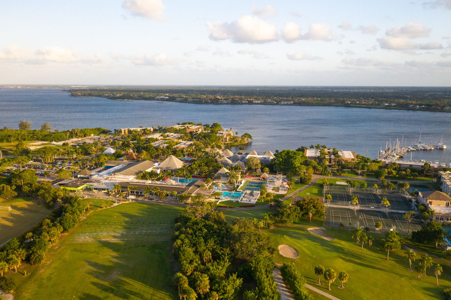 Aerial view of Club Med Sandpiper Bay