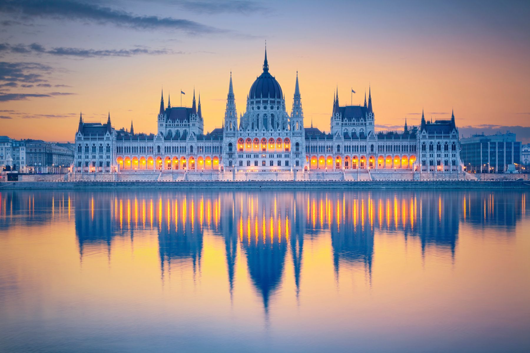 The glorious Parliament Building in Budapest
