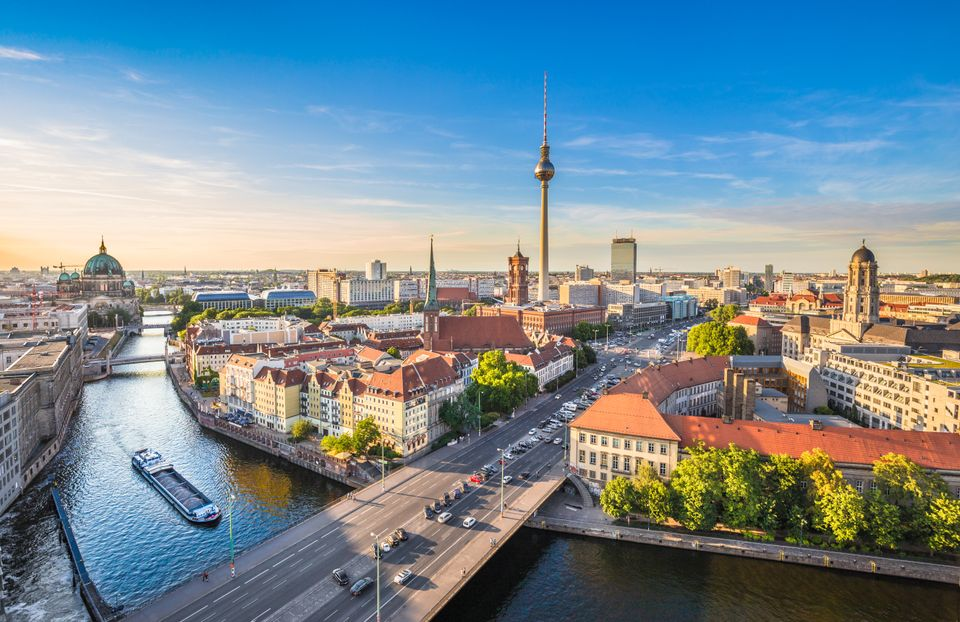 Panoramic view of Berlin in the summer