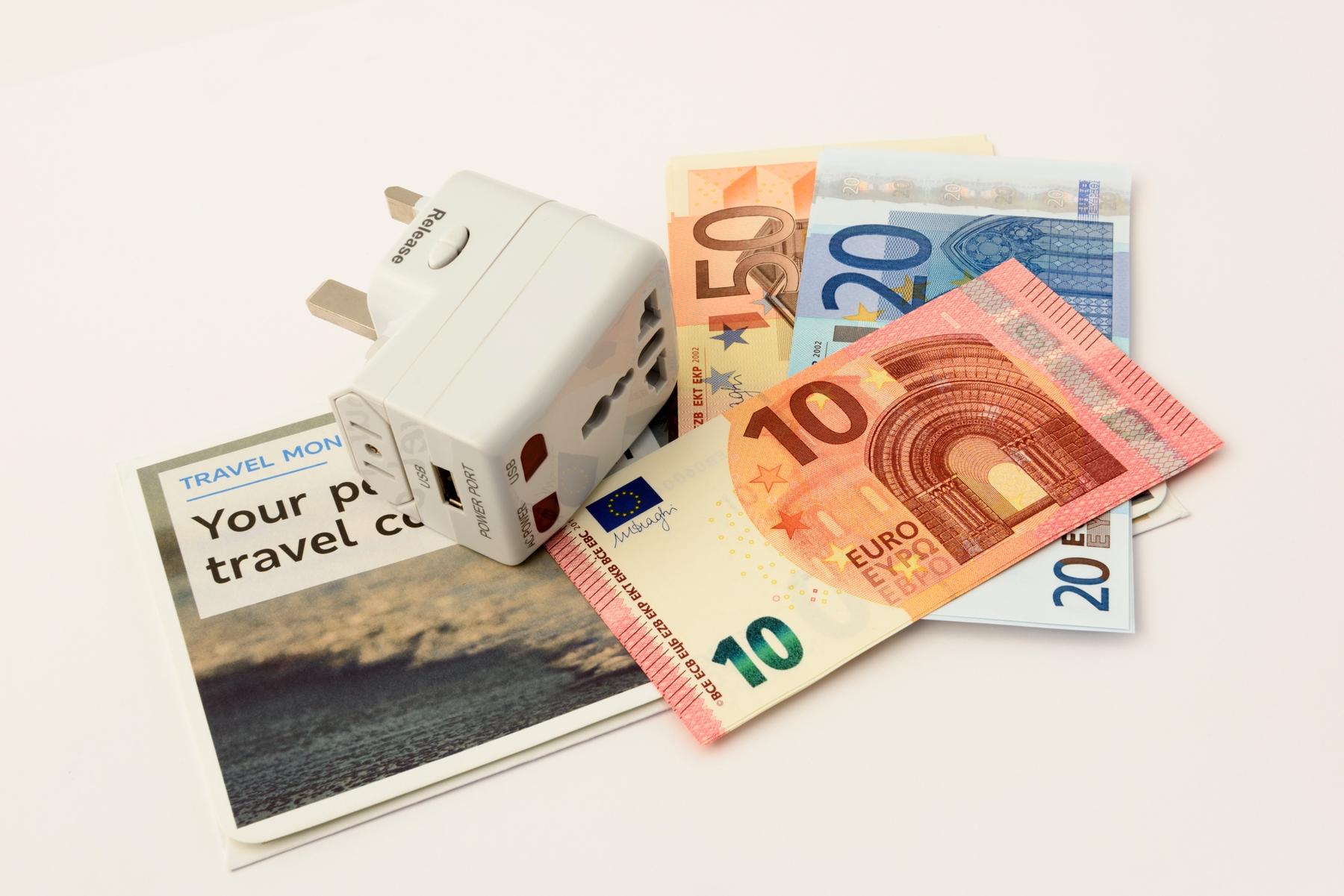 you'll need an international travel plug adaptor when you travel