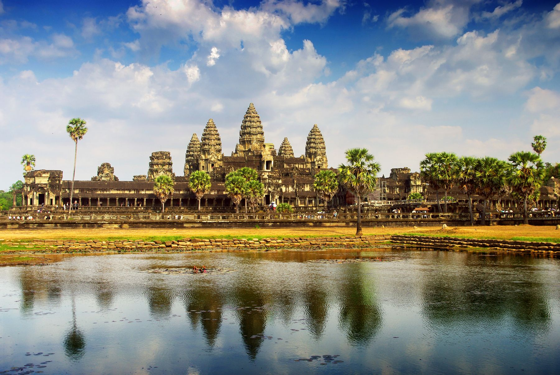 The Angkor Wat temple in Cambodia