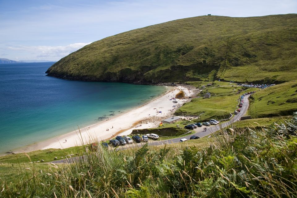 Keem Bay, in County Mayo, is one of the most beautiful beaches in Ireland