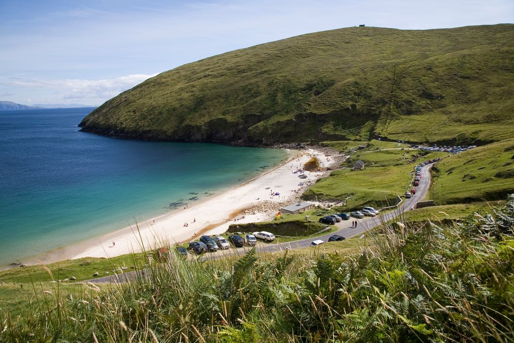 Keem Bay's blue waters and green countryside make it one of the best beaches in Ireland