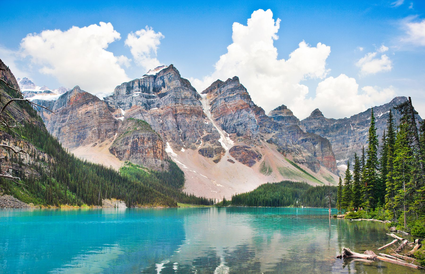 Summer view of Lake Louise in Banff National Park, Canada