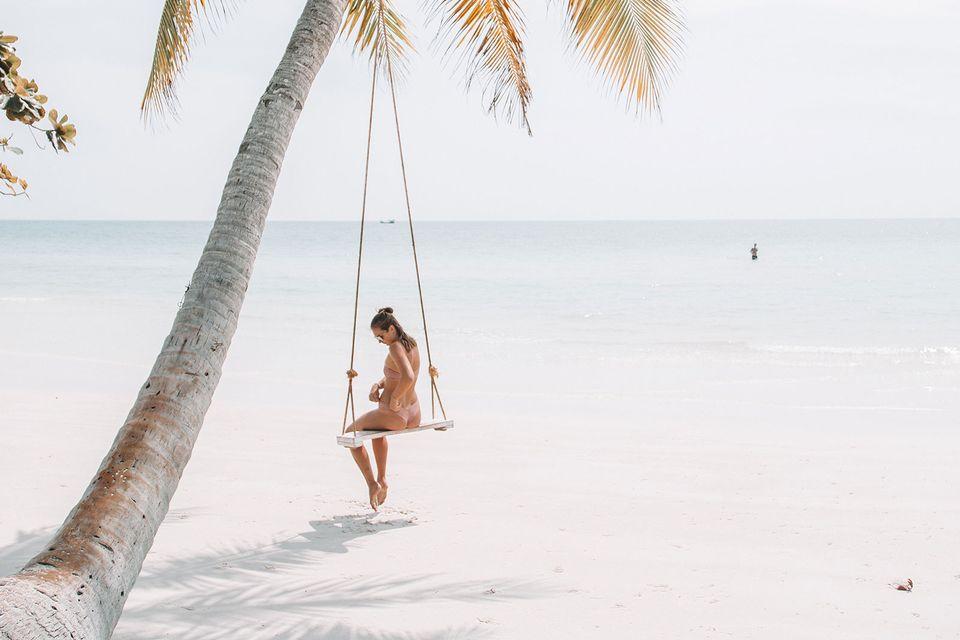 Начало дня на райском курорте