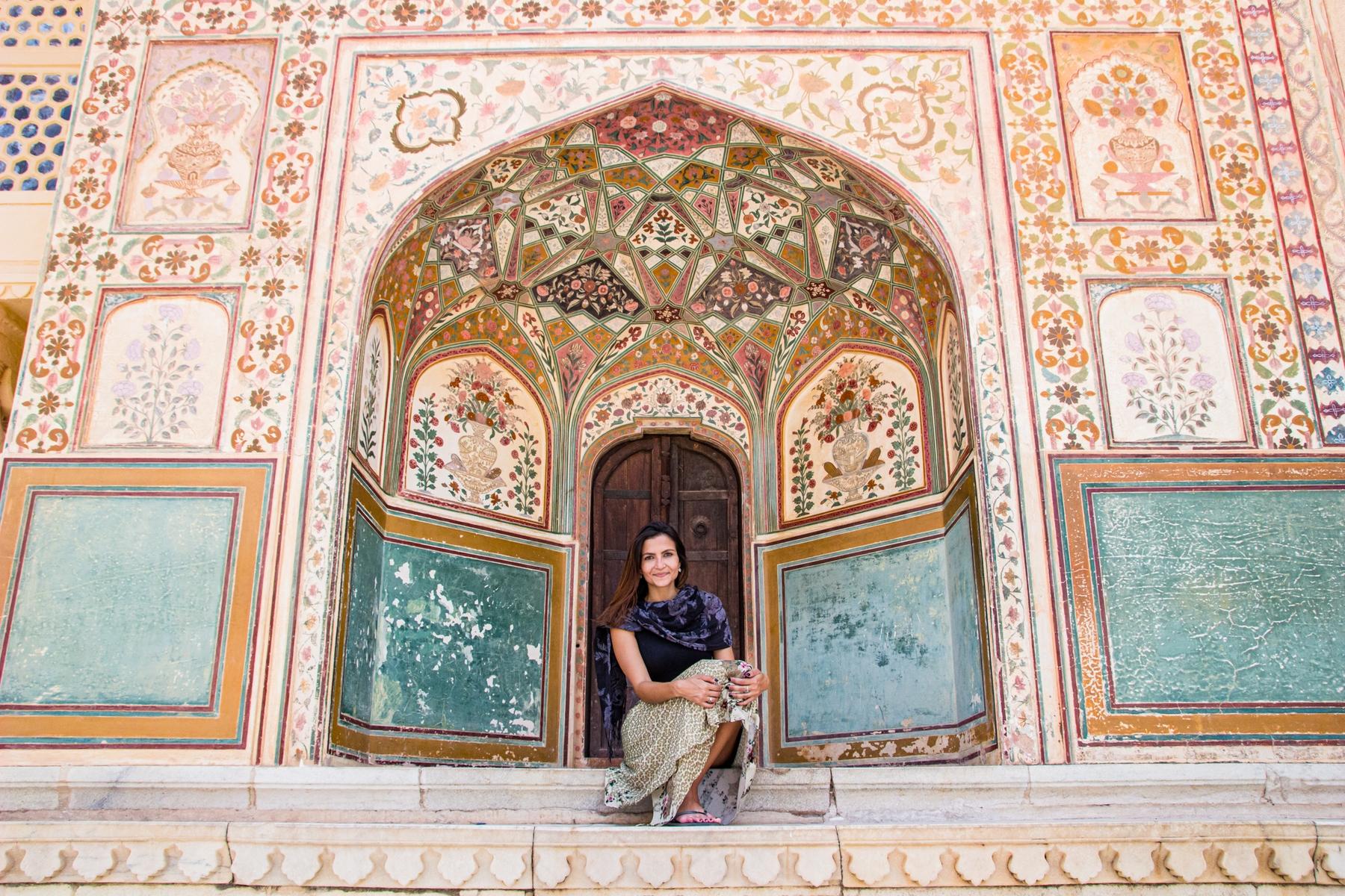 Mulher na Índia durante um sabático, viagem que deve ser planejada com pelo menos um ano de antecedência