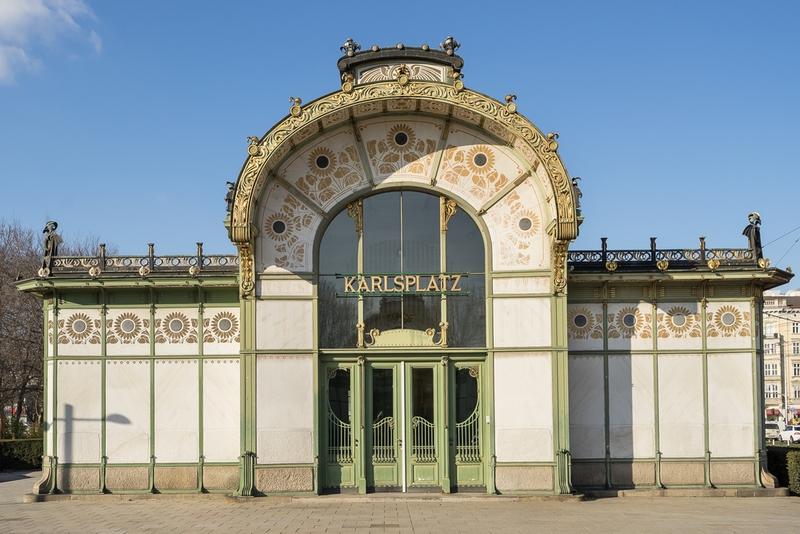 ウィーンの地下鉄駅