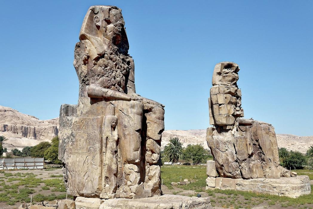 Egitto: Colossi di Memnone