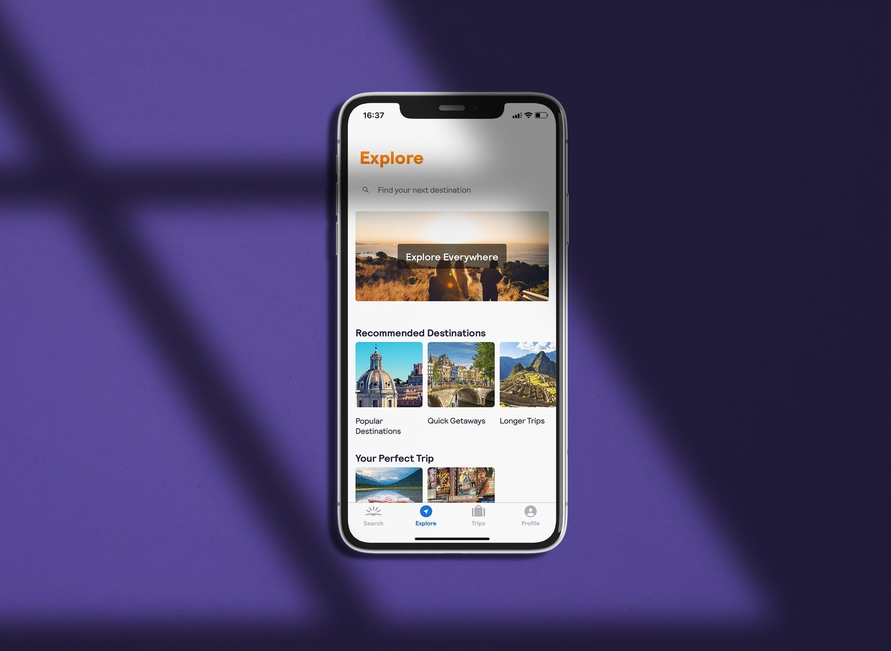 Skyscanner app Explore Everywhere