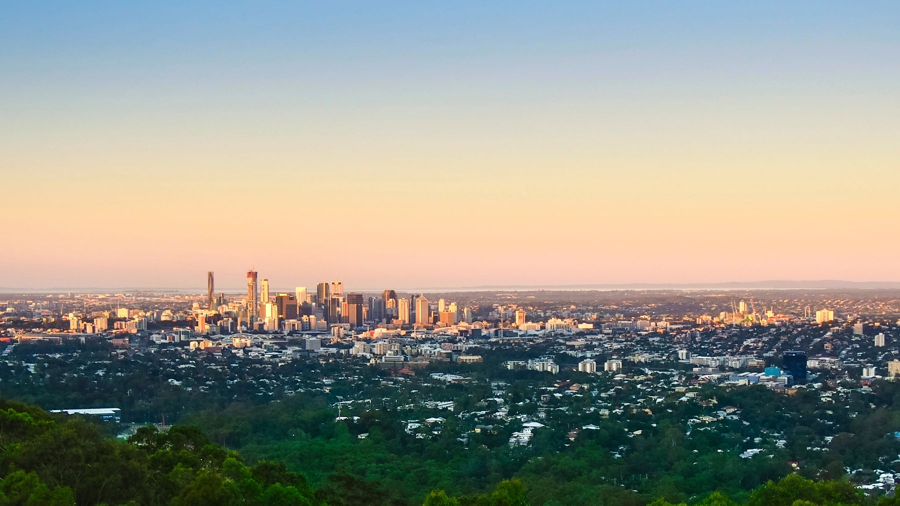 Climbing Brisbane's Mount Coot-tha gives great views over the city